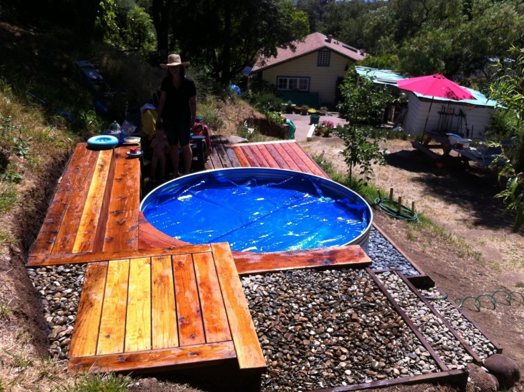 fotos tanque australiano con deck pileta piscina