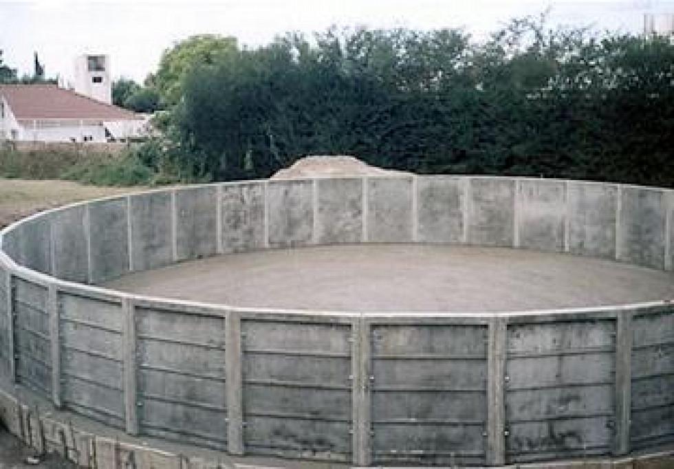 tanque australiano premoldeado de cemento placas de hormigon armado